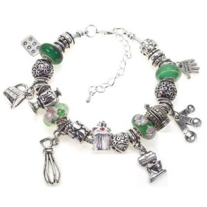 Kitchen Inspired Charm Bracelet for Cooking Lovers