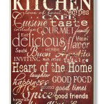 Red and White Kitchen and Home Quotes Wall Plaque