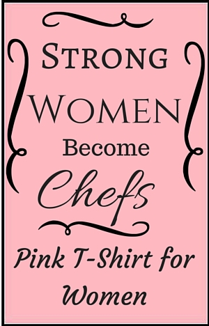 Pink Chef T-shirt for women