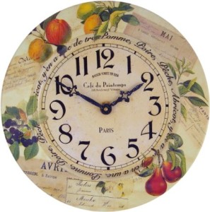 Beautiful Vintage Fruit Kitchen Clock