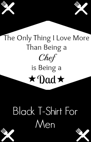 Black T-Shirt Gift for Dads