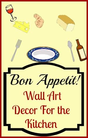 Bon Appetit Wall Art Decor