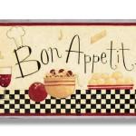 Classy Bon Appetit Wall Art Plaque