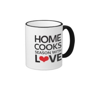 Black and White Home Cooks Season With Love Mug For Cooking Enthusiasts
