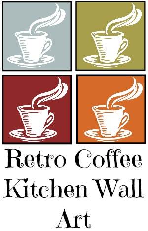 Retro Coffee Kitchen Art