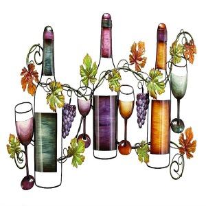 Beautiful Wine and Grapevine Kitchen Wall Art