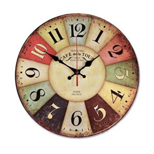 Multicolored French Kitchen Wall Clock