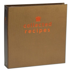 Brown 3 Ring Cookbook Binder for Collecting Recipes