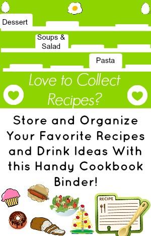 Recipe Organizer Binder
