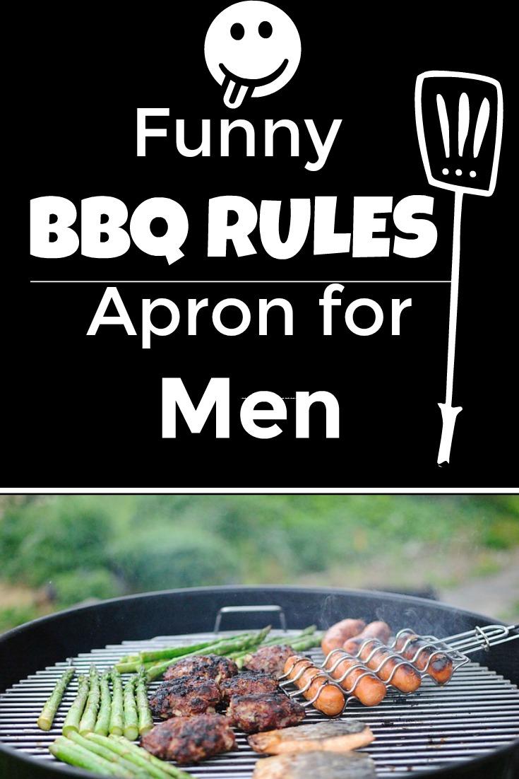 Black Gag Gift Apron for Men