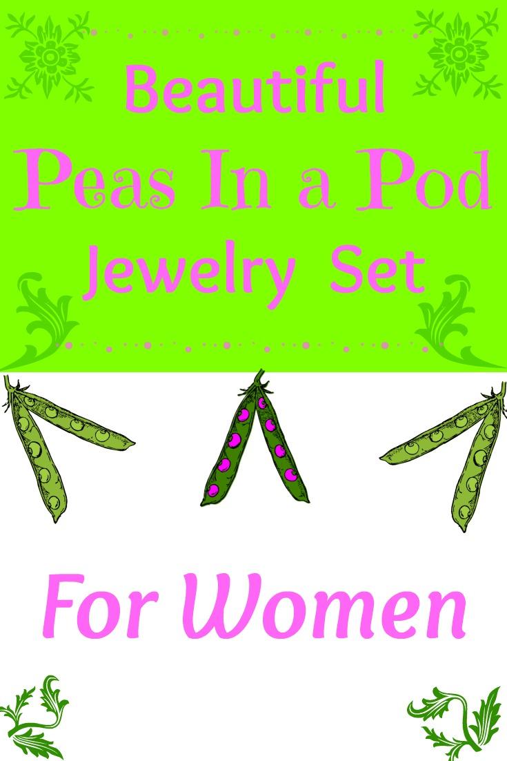 Pretty Peas In Pod Jewelry Gift Set