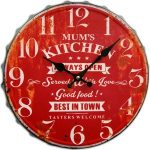 Red Mum's Kitchen Vintage Wall Clock