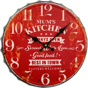 Red Mum's Kitchen Vintage Wall Clock