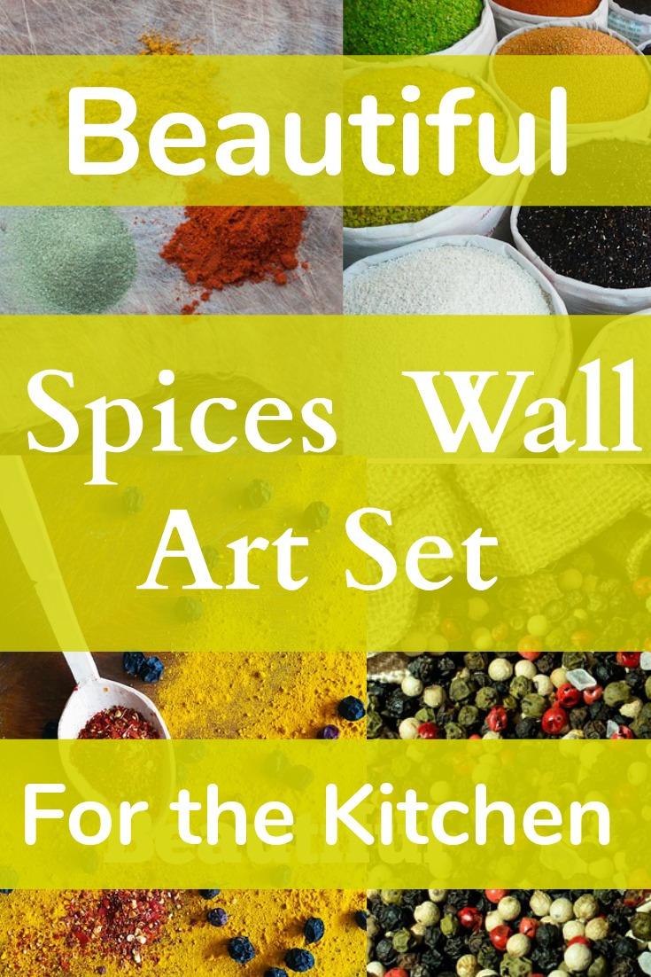 Realistic Spices & Spoons 4 Piece Wall Art Set – Catering The Chef