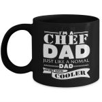 Black Chef Dad Coffee Cup Gift for Men