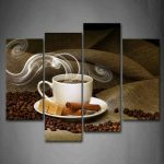 Brown Coffee Panel Canvas Wall Decor for Dining Rooms