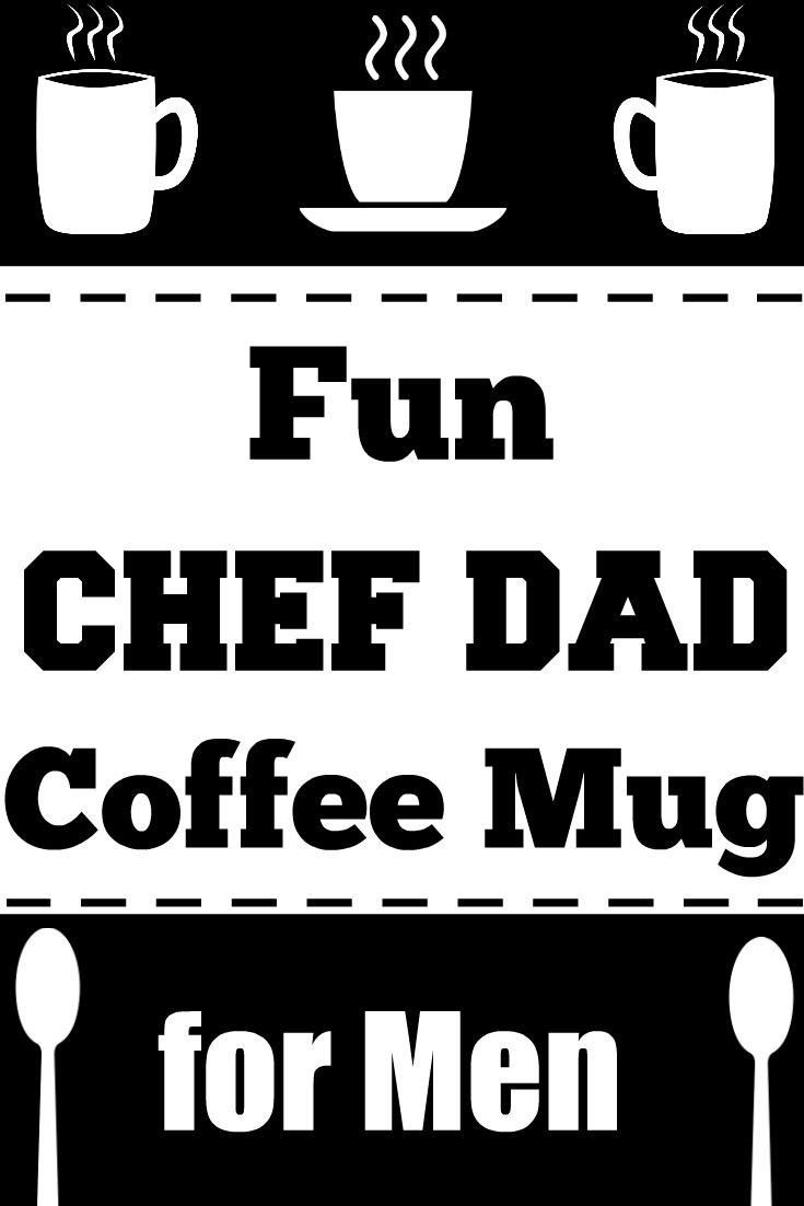 Black Chef Dad Mug for Men