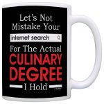 Funny Ceramic Chef Mug Gag Gift for Culinarians
